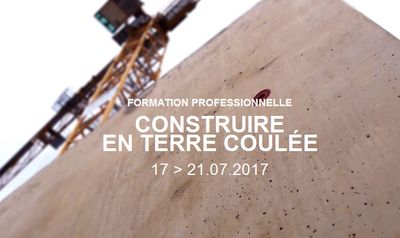 Professional traning course «  Building with poured earth »