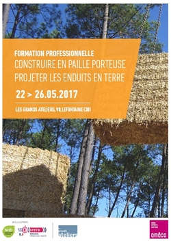 Professional training course «  Building with load-bearing straw and Spattering earthen coat »