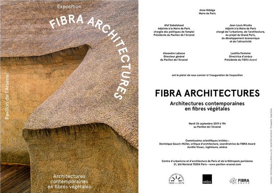 Exposition FIBRA ARCHITECTURES - Inauguration le mardi 24 septembre 2019 à 19h, Pavillon de l'Arsenal