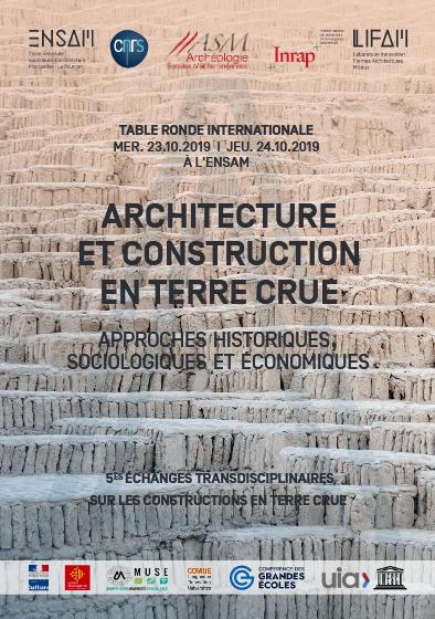 5èmes échanges transdisciplinaires sur les constructions en terre crue, 23-24 oct. 2019 Montpellier