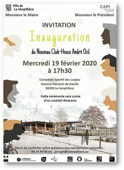 Inauguration du Nouveau Club-House de La Verpillière (projet Design-Build LAB 2019)