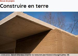 Revues de projets : construire en terre | Villefontaine, 5 novembre